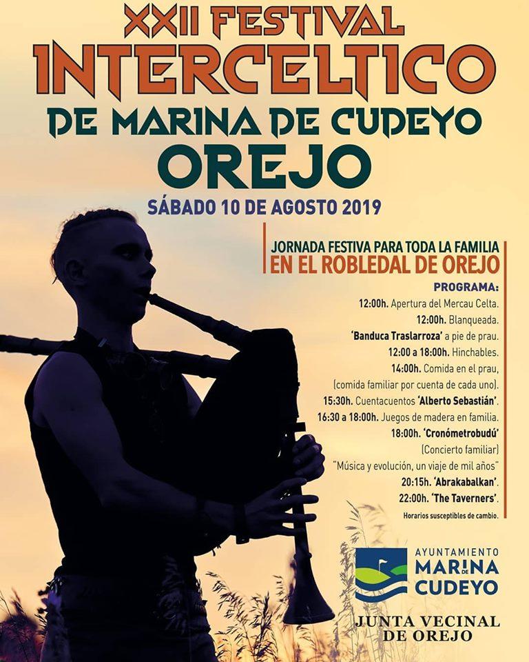 XXII Festival Intercéltico, sábado 10 de agosto de 2019